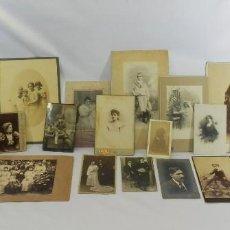 Fotografía antigua: GRAN LOTE DE 21 FOTOGRAFÍAS ANTIGUAS DE DIFERENTES LOCALIDADES ESPAÑOLAS. Lote 96036535