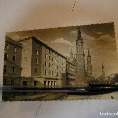 Fotografía antigua: ANTIGUA TARJETA POSTAL AÑOS 50 - 70 ZARAGOZA PLAZA CATEDRALES (17). Lote 96804779