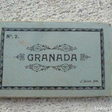 Fotografía antigua: ANTIGUA CARPETA CON 10 POSTALES DE LA ALHAMBRA DE GRANADA. Lote 97078415