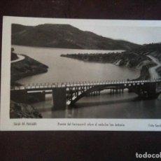 Fotografía antigua: SALAS PALLARS,PUENTE DEL FERROCARRIL SOBRE EL EMBALSE DE SAN ANTONIO. Lote 97756875