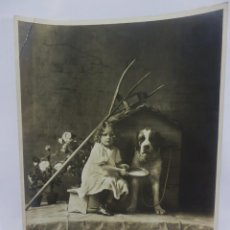 Fotografía antigua: PRECIOSA POSTAL EN GRAN FORMATO DE EDITORIAN AMAG AÑOS 1910 MEDIDAS 30X24 CM PRECIOSAS. Lote 97912251