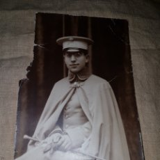 Fotografía antigua: ANTIGUA FOTOGRAFIA POSTAL CAPITAN CABALLERIA ALFONSINA BARRERA SEVILLA. Lote 99099123