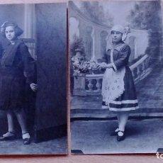 Fotografía antigua: FOTOGRAFIAS TARJETA POSTAL ANTIGUAS RETRATO DE NIÑAS 2 UDS. 1 CIRCULADA AÑOS 10-20. Lote 99146687