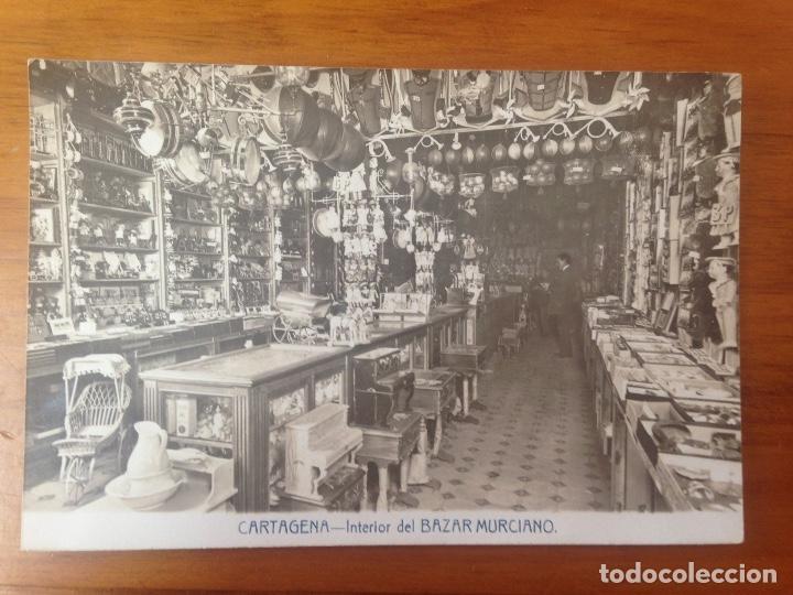 ANTIGUA FOTOGRAFIA TARJETA POSTAL BAZAR MURCIANO CARTAGENA MURCIA (Fotografía Antigua - Tarjeta Postal)