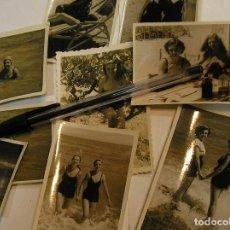 Fotografía antigua: ANTIGUA FOTO FOTOGRAFIA CHICAS EN LA PLAYA LOTE DE 9 FOTOS (17). Lote 100469399