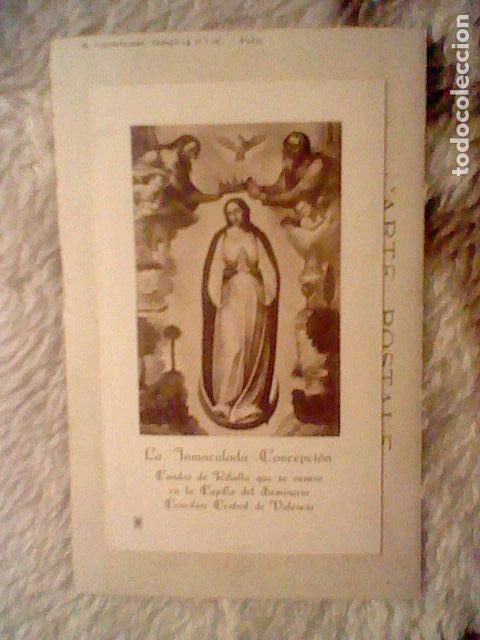 Fotografía antigua: inmaculada concepcion tarjeta postal seminario antigua G C Valencia - Foto 2 - 100648551
