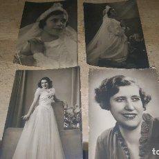 Fotografía antigua: FOTOGRAFIAS ANTIGUAS DE NIÑA COMUNION Y SEÑORITA, 14 X 9 CM.. Lote 100712107