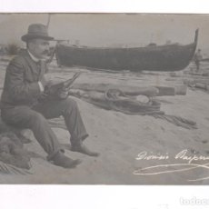 Fotografía antigua: DIONÍS BAIXERAS (1862-1943) PINTOR Y DIBUJANTE, FOTO: FRANCESC SERRA.. Lote 100712623
