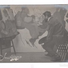 Fotografía antigua: JOAN LLIMONA (1860-1926) PINTOR. FOTOGRAFÍA DE ÉPOCA DE FRANCESC SERRA.. Lote 100713323