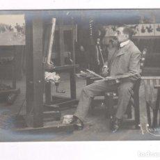 Fotografía antigua: JOSEP CUSACHS (1850-1908) PINTOR Y MILITAR, FOTOGRAFÍA DE ÉPOCA DE FRANCESC SERRA.. Lote 100717747