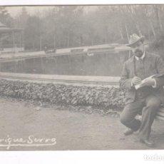 Fotografía antigua: ENRIC SERRA (1859-1918) PINTOR DE LA ESCUELA ROMANA, FOTOGRAFÍA DE FRANCESC SERRA. . Lote 100745023