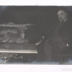 Fotografía antigua: CARLES VIDIELLA (1856-1915) MÚSICO Y COMPOSITOR, FOTO: FRANCESC SERRA.. Lote 100745195