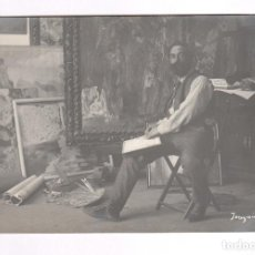 Fotografía antigua: JOAQUIM MIR (1873-1940) PINTOR, FOTOGRAFÍA : FRANCESC SERRA.. Lote 100745395