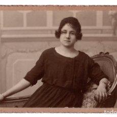 Fotografía antigua: POSTAL FOTOGRÁFICA RETRATO MUJER - CARTÓN DURO. VENDRELL. VALENCIA 1922 - 9,5 X 15. Lote 101326575