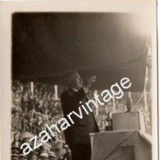Fotografía antigua: MADRID, 1930, MITIN REPUBLICANO, ALEJANDRO LERROUX, ESPECTACULAR. Lote 101974263