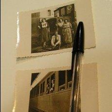 Fotografía antigua: ANTIGUA FOTO FOTOGRAFIA VAGON DE TREN LOTE DE 3 FOTOS (17). Lote 102202591