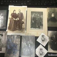 Fotografía antigua: LOTE DE FOTOS ANTIGUAS DE FINAL DEL SIGLO XIX Y PRINCIPIOS XX. Lote 102464635