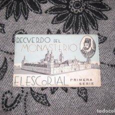 Fotografía antigua: 10 POSTALES - MONASTERIO DEL ESCORIAL, PRIMERA SERIE. Lote 102553211