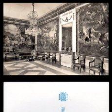 Fotografía antigua: FOTOGRAFIA, EL ESCORIAL CAMARA TAPICES SIGLO XVIII.. Lote 102590331