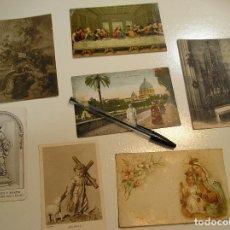 Fotografía antigua: ANTIGUAS POSTALES ESTAMPAS RELIGIOSAS LOTE DE 7 VER FOTOS (17). Lote 102754759