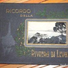 Fotografía antigua: RECUERDO DE LA RIVIERA DE LEVANTE 32 VISTAS POSTALES 23,5X17 CM. EXCELENTE CONSERVACIÓN. Lote 103177295