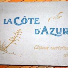 Fotografía antigua: LA COTE D'AZUR. ÁLBUM ARTISTICO. LA COSTA AZUL 36 VISTAS POSTALES 24,5X16,5 CM.. Lote 103178115