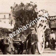 Fotografía antigua: SEVILLA,1930,ROMERIA VIRGEN DE LOS REYES DE MOLVIEDRO A QUINTILLO, RARISIMA. Lote 104200351