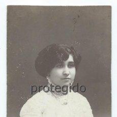 Fotografía antigua: RETRATO FEMENINO. FOTÓGRAFOS HARO HERMANOS. CARTAGENA, MURCIA.. Lote 104853499