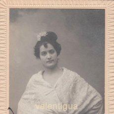 Fotografía antigua: BONITA TARJETA POSTAL BELLA MUJER POSANDO CON MANTÓN. ARTE FOTOGRÁFICO MARSAL DENIA ALICANTE 1916 CC. Lote 106000747