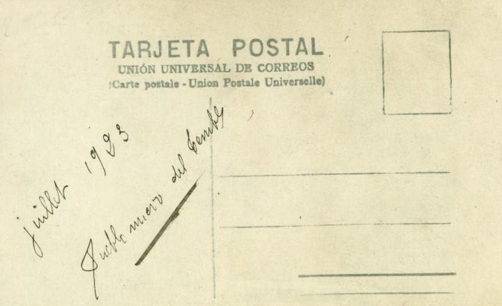 Fotografía antigua: CORDOBA PUEBLO NUEVO DEL TERRIBLE. JOVEN CON MANTILLA. JULIO 1923. - Foto 2 - 106357491