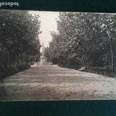 Fotografía antigua: ANDEN TRASVERSAL DEL PASEO DEL OBELISCO PARQUE RIBALTA CASTELLON DE LA PLANA. Lote 106555815