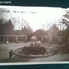 Fotografía antigua: LA PERGOLA PARQUE RIBALTA CASTELLON DE LA PLANA. Lote 106555871