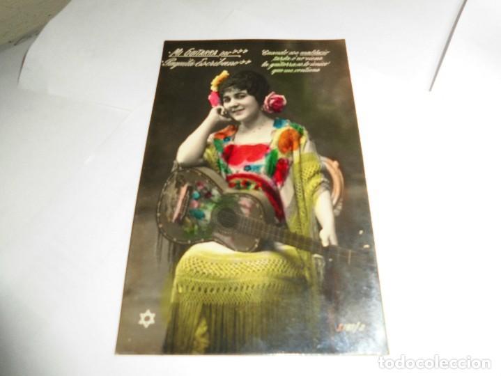 ANTIGUA TARJETA POSTAL,MI GUITARRA PAQUITA ESCRIBANO (Fotografía Antigua - Tarjeta Postal)