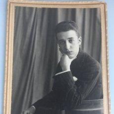 Fotografía antigua: RETRATO DE JOVEN. ALICANTE 1920. Lote 107192392