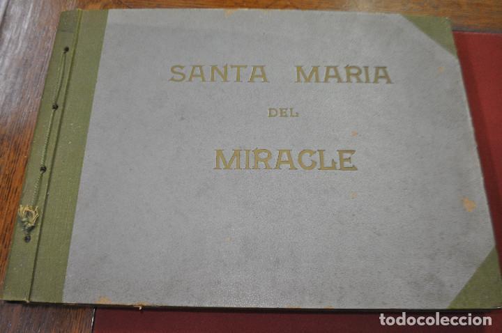 SANTA MARIA DEL MIRACLE MAGNÍFIC ÀLBUM DE FOTOGRAFIES IMATGES DE LA CREU DE TERME, PROCESSÓ, ETC MPB (Fotografía Antigua - Tarjeta Postal)