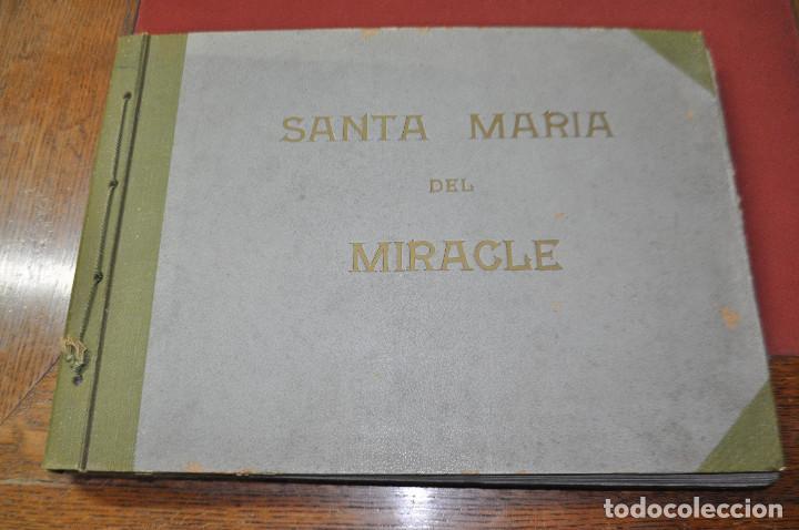 Fotografía antigua: SANTA MARIA DEL MIRACLE MAGNÍFIC ÀLBUM DE FOTOGRAFIES imatges de la creu de terme, processó, etc MPB - Foto 2 - 107219211