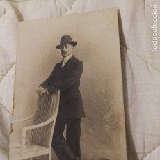 Fotografía antigua: ANTIGUA FOTOGRAFÍA POSTAL. CABALLERO.. Lote 107288003