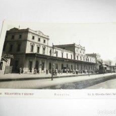 Fotografía antigua: MAGNIFICA ANTIGUA FOTO POSTAL DE VILLANUEVA Y GELTRU,ESTACION,ED.R.OLIVELLA( FOTO L.FERRE T). Lote 107542215