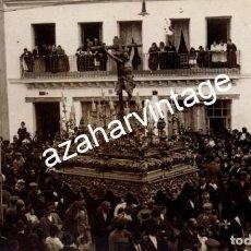 Fotografía antigua: SEMANA SANTA SEVILLA, ESPECTACULAR POSTAL FOTOGRAFICA DEL CACHORRO. Lote 107720843