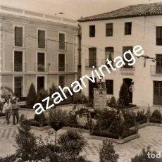 Fotografía antigua: POSTAL FOTOGRAFICA DE MARMOLEJO, JAEN, PLAZA DEL AMPARO. Lote 108049955