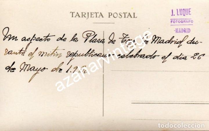 Fotografía antigua: MADRID, 1930, MITIN REPUBLICANO EN LA PLAZA DE TOROS DE LAS VENTAS - Foto 2 - 108822579
