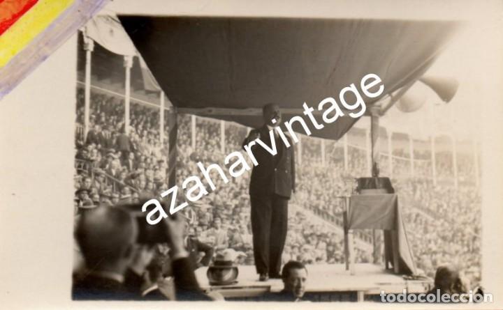MADRID, 1930, MITIN REPUBLICANO, GERARDO ABAD CONDE, ESPECTACULAR (Fotografía Antigua - Tarjeta Postal)
