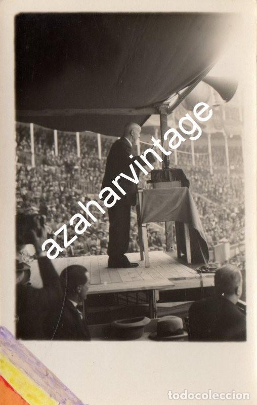 MADRID, 1930, MITIN REPUBLICANO, DOCTOR CARCELES, ESPECTACULAR (Fotografía Antigua - Tarjeta Postal)