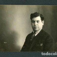 Fotografía antigua: CABALLERO. BCN. AUTOR DESCONOCIDO. C. 1920. Lote 108833003