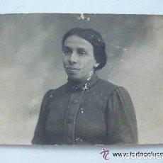 Fotografía antigua: FOTO DE ESTUDIO DE SEÑORITA DE PRINCIPIOS DE SIGLO. Lote 108998519