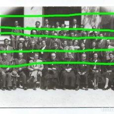 Fotografía antigua: PROFESORADO Y AUTORIDADES. COLEGIO SANTO CRISTO. CIEZA, MURCIA. FOTÓGRAFO DESCONOCIDO.. Lote 109184047