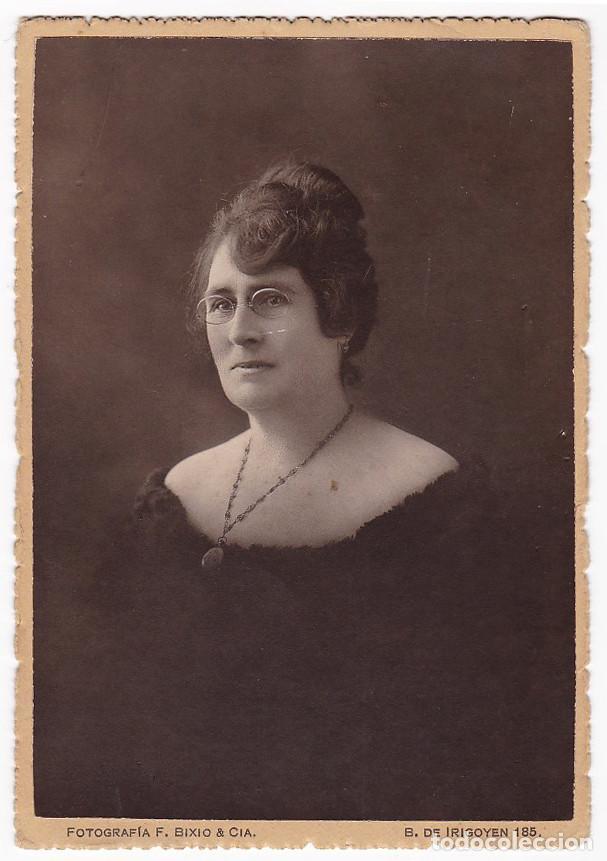 FOTOGRAFÍA SEÑORA. F. BIXIO Y COMPAÑÍA. ESCRITA Y CIRCULADA EN 1919. CIEZA (MURCIA). (Fotografía Antigua - Tarjeta Postal)