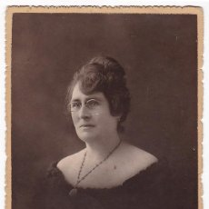 Fotografía antigua: FOTOGRAFÍA SEÑORA. F. BIXIO Y COMPAÑÍA. ESCRITA Y CIRCULADA EN 1919. CIEZA (MURCIA).. Lote 111420971