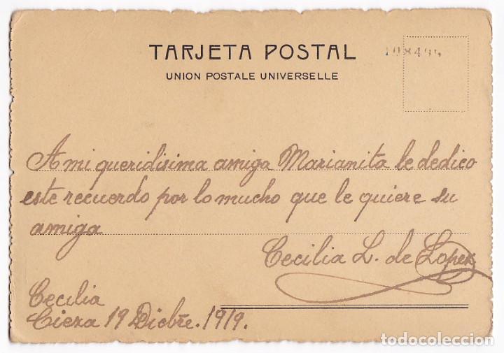 Fotografía antigua: Fotografía señora. F. Bixio y compañía. Escrita y circulada en 1919. Cieza (Murcia). - Foto 2 - 111420971