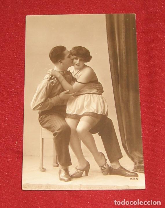 PAREJA SEXI - EROTICA - FOTOGRAFIA/POSTAL (Fotografía Antigua - Tarjeta Postal)